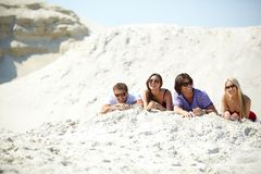 Friends on the beach Royalty Free Stock Image
