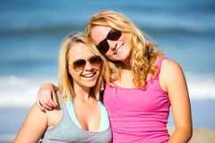 Friends at the beach Stock Photography