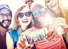 Friends Beach Vacation Summer Selfie Concept Royalty Free Stock Image