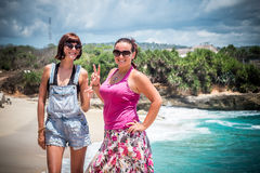 Friends Beach Vacation on tropical island Nusa Lembongan, Indonesia, Asia. Royalty Free Stock Photo