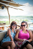 Friends Beach Vacation on tropical island Nusa Lembongan, Indonesia, Asia. Stock Images