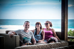 Friends Beach Vacation on tropical island Nusa Lembongan, Indonesia, Asia. Stock Image