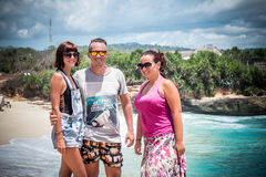 Friends Beach Vacation on tropical island Nusa Lembongan, Indonesia, Asia. Royalty Free Stock Image