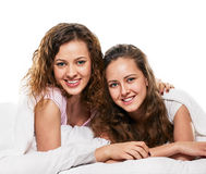 Friends in bed Stock Photos