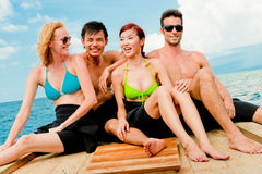 Friends On Boat Royalty Free Stock Photography