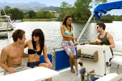 Friends boat Royalty Free Stock Image