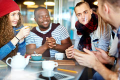 Friends at cafe Royalty Free Stock Photo