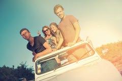 Friends in a car Stock Photo