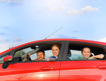 Friends in a car Royalty Free Stock Photography