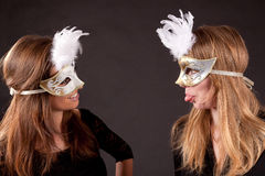 Friends carnaval mask Stock Photos