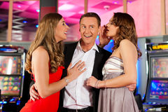 Friends in Casino stock photography