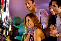 Friends at a casino Royalty Free Stock Photo