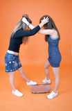 Friends in a catfight 2 Stock Images