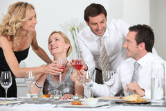Friends celebrating Royalty Free Stock Images