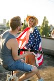 Friends Celebrating 4th Of July Holiday Royalty Free Stock Images