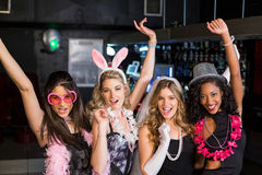 Friends celebrating bachelorette party Royalty Free Stock Photography