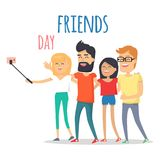 Friends Celebrating Friendship Day Vector Concept Stock Image