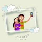 Friends celebrating Friendship Day. Royalty Free Stock Photography