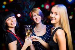 Friends celebrating New Year Stock Photos