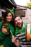 Friends celebrating St Patricks day Royalty Free Stock Images