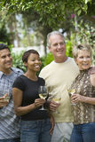 Friends Celebrating With Wine Royalty Free Stock Photography