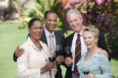 Friends Celebrating With Wine Royalty Free Stock Photo