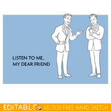 Friends chat. Editable vector icon in linear style Royalty Free Stock Photo