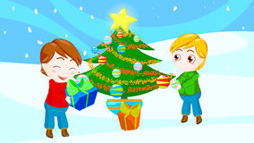 Friends at Christmas royalty free stock photos