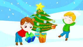Friends at Christmas Royalty Free Stock Photo
