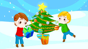 Friends at Christmas stock photography