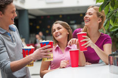 Friends at cinema. Royalty Free Stock Photos