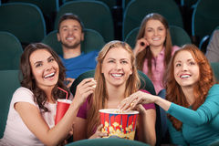 Friends at the cinema Stock Photography
