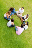 Friends in a circle Royalty Free Stock Photos