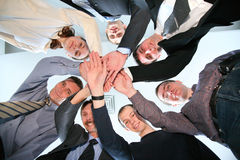 Friends circle with hands Royalty Free Stock Photography