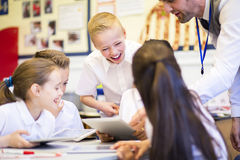 Friends in the Classroom Royalty Free Stock Images