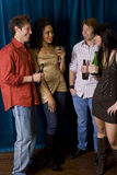 Friends at club Stock Photography
