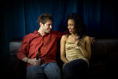 Friends at club royalty free stock photos