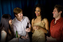 Friends at club Royalty Free Stock Images
