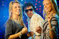 Friends clubbing Royalty Free Stock Image