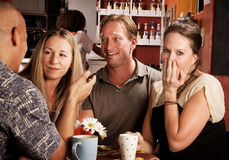 Friends in a Coffee House Stock Image