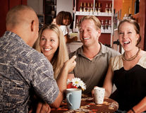 Friends in a Coffee House Stock Photos