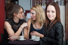Friends in Coffee House Stock Images