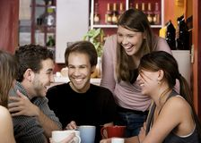 Friends in a Coffee House Royalty Free Stock Photo
