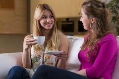 Friends and coffee time Stock Photos