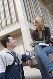 Friends At College Campus Stock Photos
