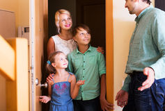 Friends coming with visit Stock Images