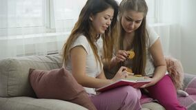 Friends discussion lifestyle leisure girls talking. Friends communication discussion. teenage girls lifestyle. fun leisure. girlfriends talking and looking at stock footage