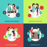 Friends Concept Icons Set Royalty Free Stock Photo