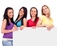 Friends with copy  space Stock Image