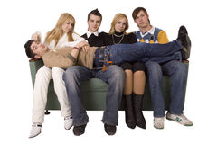 Friends on the couch Stock Photography